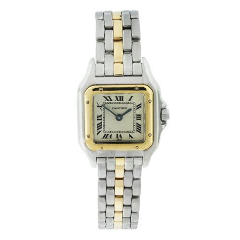 Cartier 2 In1 1 cartier panthere two tone one row bracelet