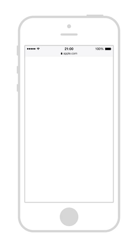 dribbble iphone5 wireframe png by panagiotis
