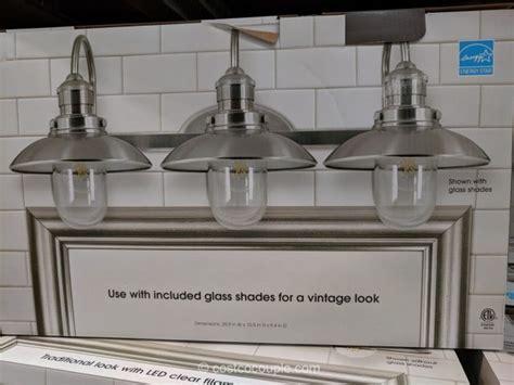 feit electric led 3 light bath vanity costcochaser feit electric 3 light led vanity