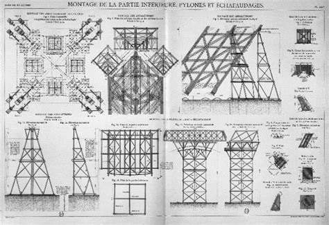 eiffel tower floor plan eiffel tower construction 1908 architectural plans