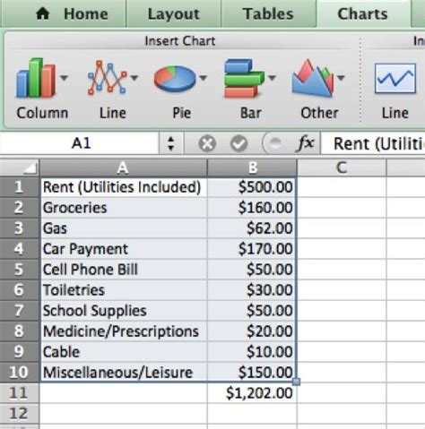 creating a college budget in microsoft excel 8 steps