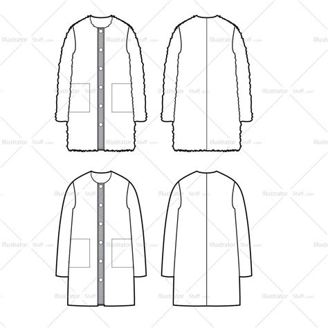 Coat Template by Fur Coat Flat Template Templates For Fashion