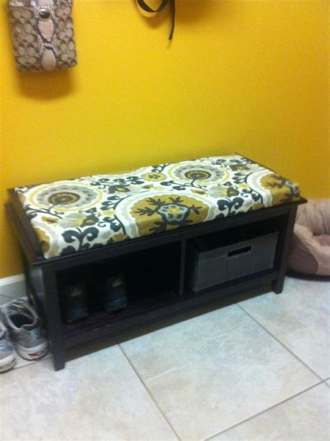 no sew bench cushion 46 best images about rec room makeover on pinterest