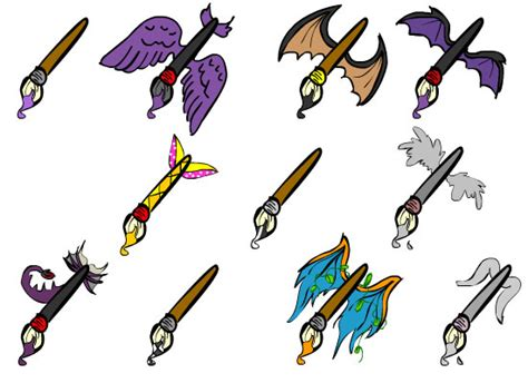 custom neopets paint brushes by arianagoddess