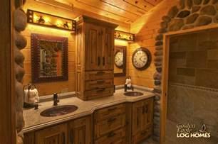 27 Bathroom Vanity Cabinets Golden Eagle Log And Timber Homes Log Home Cabin