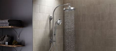 A Shower by Shower Columns Showering Bathroom Kohler
