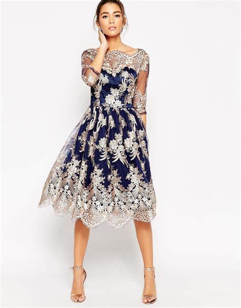 Snchi Chi lyst chi chi premium lace midi prom dress with