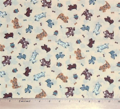 puppy fabric dogs fabric by the half yard retired puppy hydrant for quilting ebay