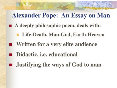 An Essay On By Pope Rhyme Scheme by Ppt Survey Of Literature 19 Th 20 Th Centuries Powerpoint Presentation Id 199779