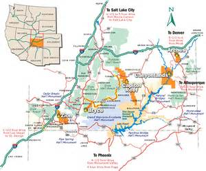 Southern Utah Map by Southern Utah National Parks Map Travel Pinterest