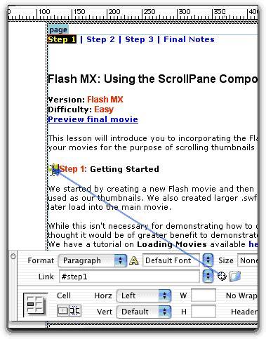 dreamweaver creating links dreamweaver linking and navigation creating anchor links