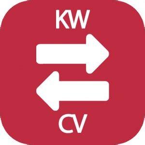 conversor de kw a cv y viceversa calculadoras