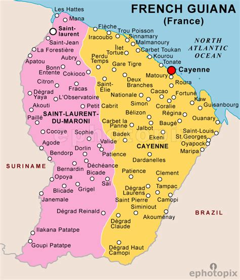 map of guiana south america map guiana images