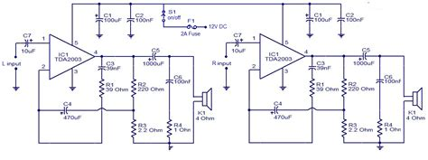 what is an integrated circuit lifier tda2003 on car stereo lifier circuit free electronic circuit diagrams