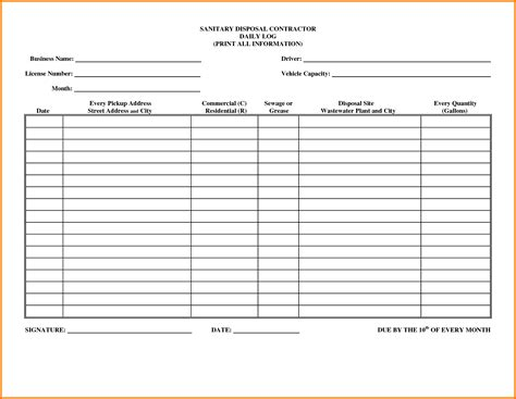 work log sheet template pictures to pin on pinterest