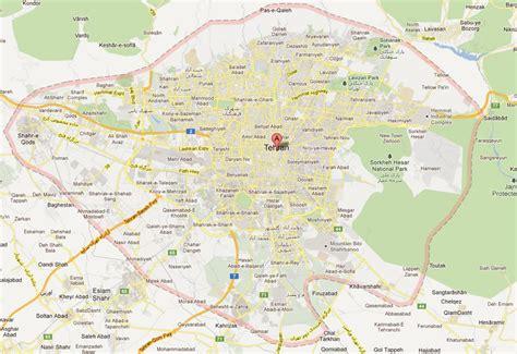 map of tehran iran tehran map