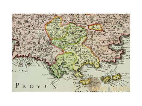 provence map comte et gouvernement de provence antique map provence sanson 1651