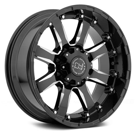 Black Truck Black Wheels Black Rhino 174 Wheels Gloss Black With Milled