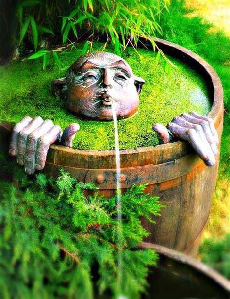 unique backyards unique water fountain in the backyard