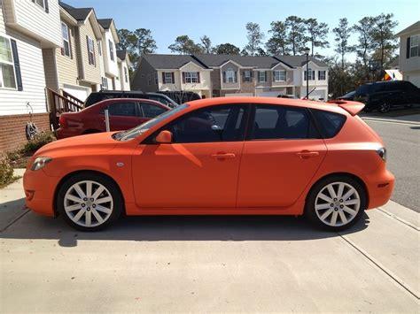 orange mazda 3 hatchback plastidip koi orange mazda speed 3 nextleveldips