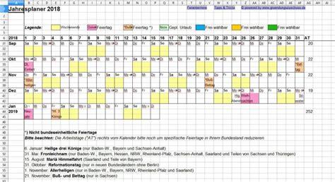 Kalender Jahresplan Jahresplaner Excel Freeware De