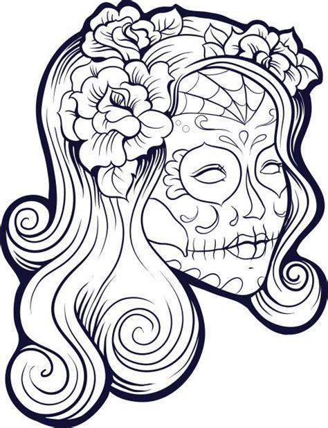 imagenes de calaveras bonitas para colorear 100 im 225 genes de catrinas mexicanas maquillaje cholas