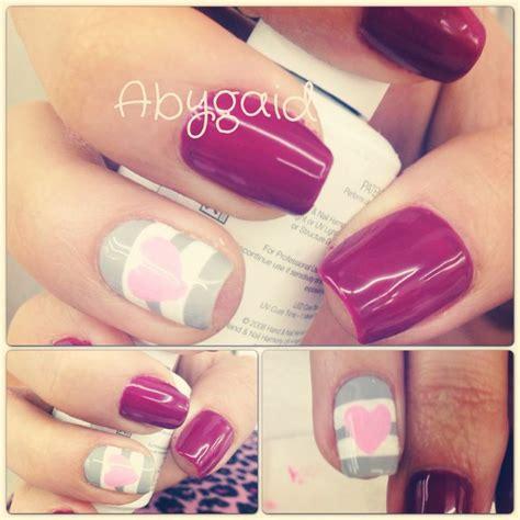 imagenes de uñas en blanco y plata gelish uva decorado com gris y blanco coraz 243 n rosa