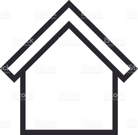 house outline home outline icon modern minimal flat design style house