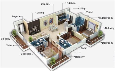3bhk House Plans 1600 sq ft 3 bhk 3t apartment for sale in metropolis