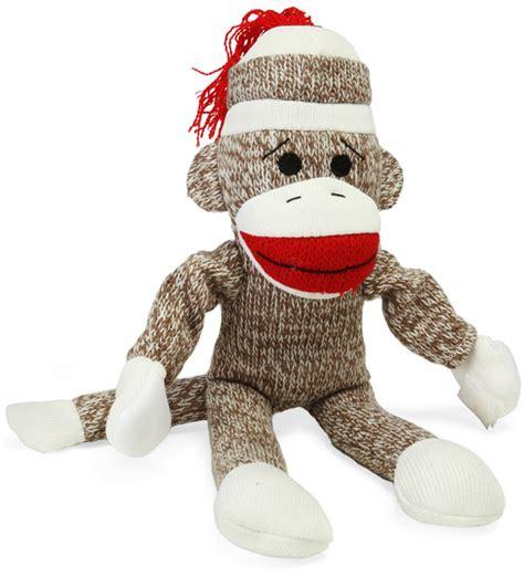 sock monkey screaming flying sock monkey thinkgeek