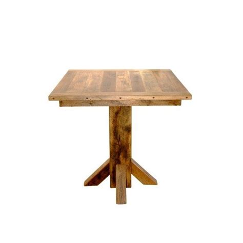wood bar table and stools rustic reclaimed barn wood pedestal pub table with 4