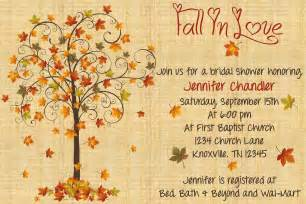 fall wedding shower invitation wording fall in bridal shower invitation by whateveris on etsy