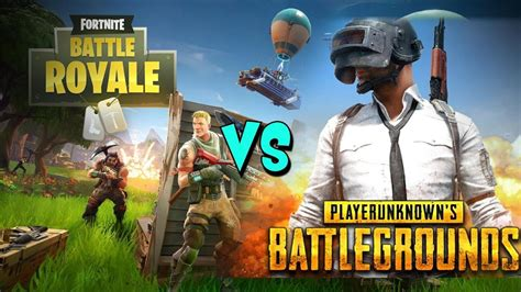 fortnite vs pubg fortnite battle royale vs playerunknown s battlegrounds