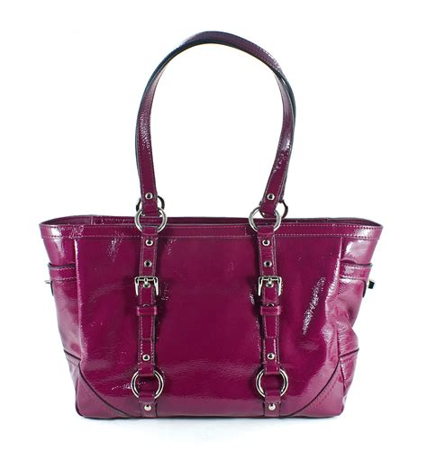 Coach Gallery Patent Handbag by Coach Patent Leather Gallery Tote Orchid Handbag Purse Bag