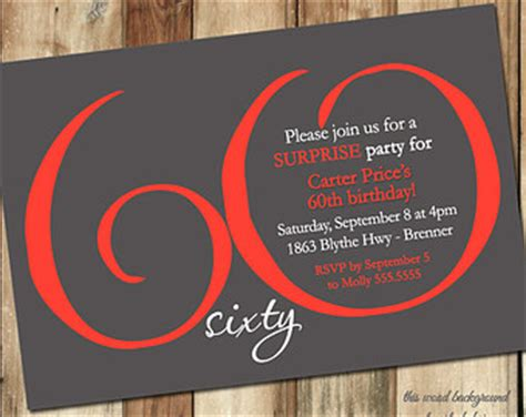 milestone birthday invitation modern number red dark gray