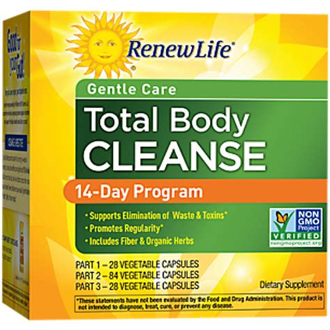 What Happens In A 14 Day Detox Program by Organic Total Cleanse 1 Kit By Renew At The