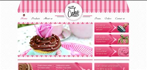 call for cake website has a great web design best web