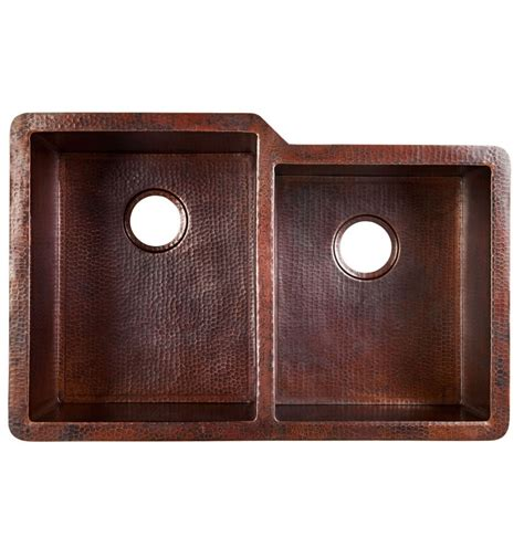 60 40 black copper kitchen sink