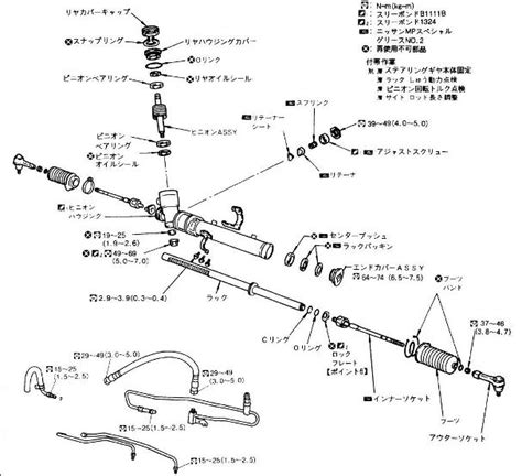 rack and pinion steering diagram toyota camry steering system imageresizertool