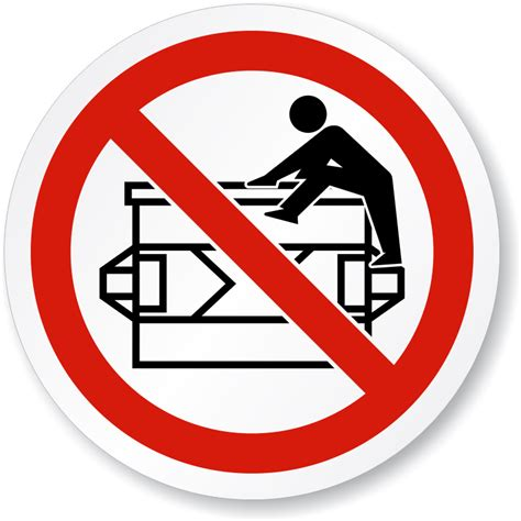 signs that a is do not climb symbol iso prohibition sign made in usa sku is 1143 mysafetysign