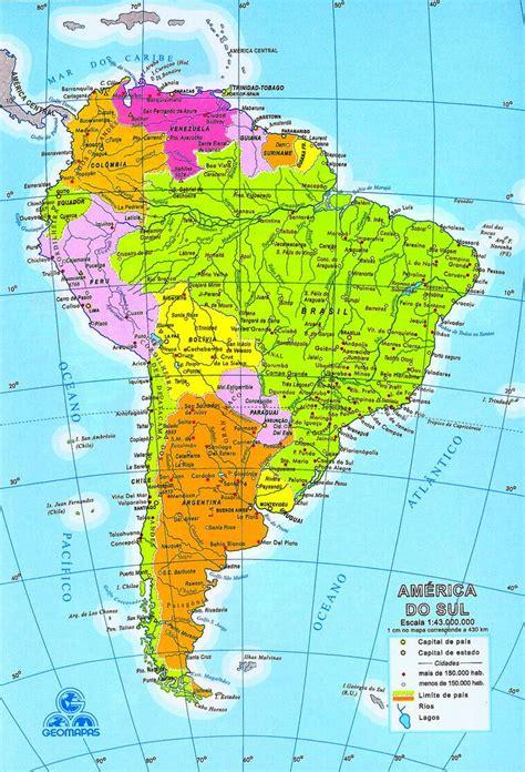 imagenes de mapa sudamerica mapa de am 233 rica del sur sudam 233 rica mapa da am 233 rica do