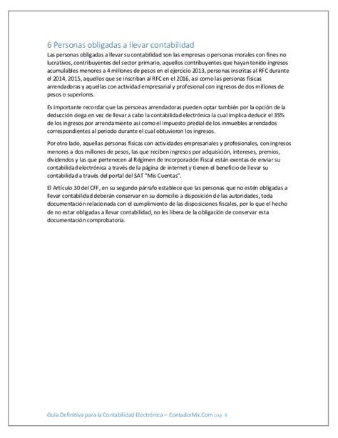 actividad empresarial y profesional 2016 contabilidad electronica guia definitiva para la contabilidad electronica 2016