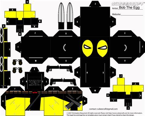 Deadpool Papercraft - deadpool cubee by bobtheegg on deviantart