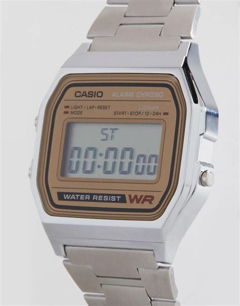 casio casio classic retro digital a158wea 9ef at asos