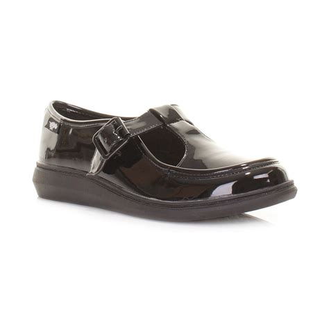 rocket flat shoes womens rocket macey black liquid patent t bar flat