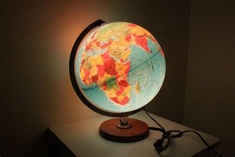 vintage illuminate globe l by replogle world by bygrassdoll