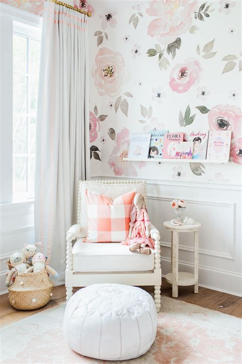 little girl wallpaper for bedroom lillya s nursery giveaway monika hibbs