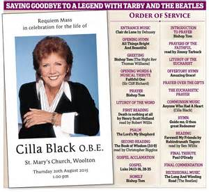 cilla black s funeral will have sir cliff richard pay