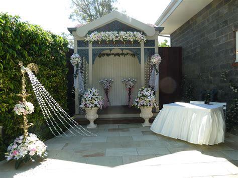 gazebo wedding ceremony decor glamorous function decor