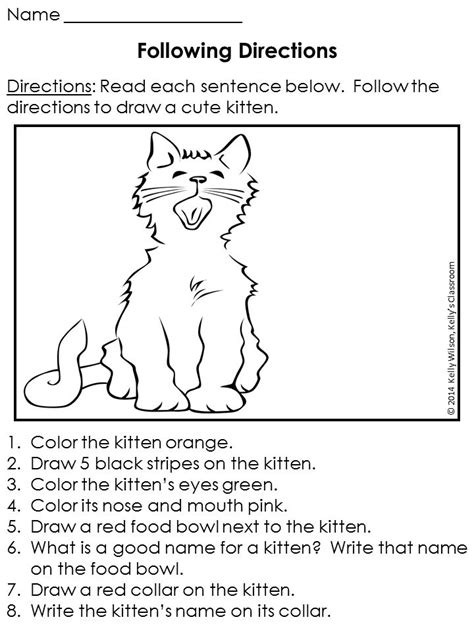 free printable following directions activities following directions free following directions worksheet